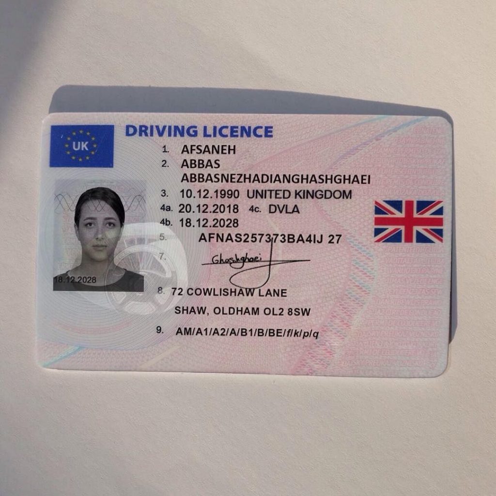 Buy UK driving license online