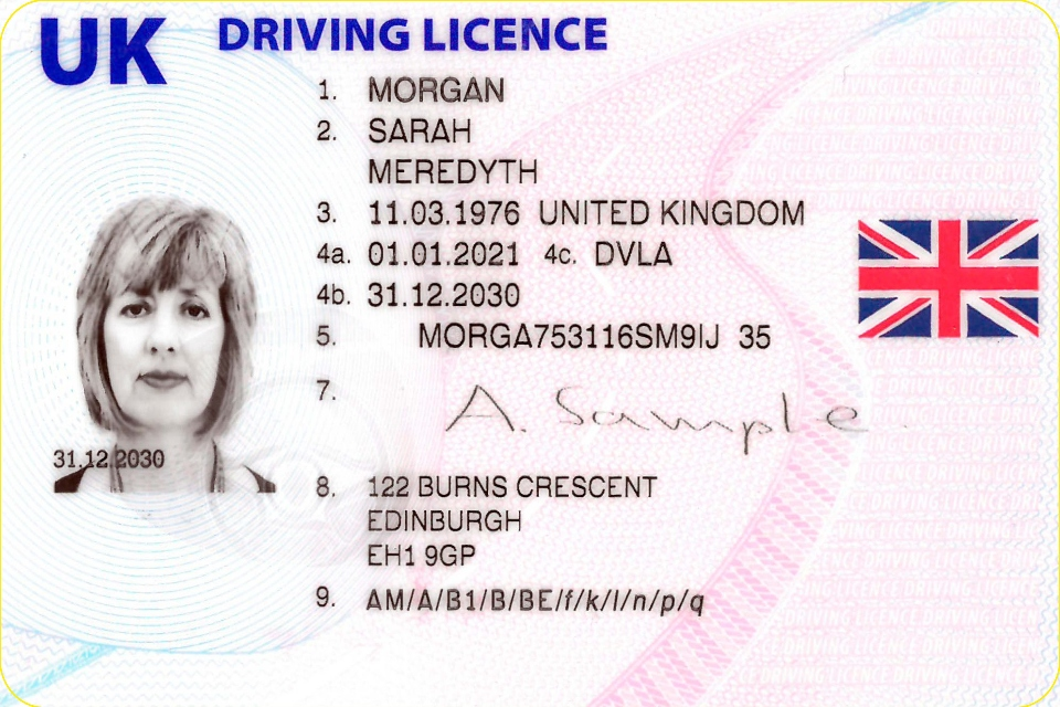 Driving licence in UK 2021